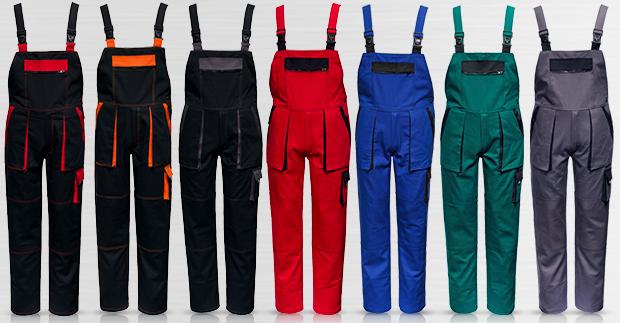 Nadměrné pracovní kalhoty s laclem