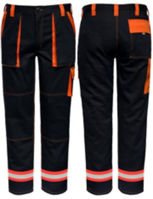 1x reflexná páska oranžovo/strieborná