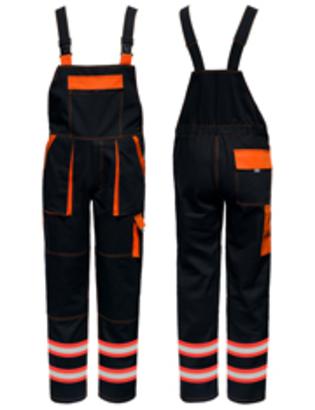 2x reflexná páska oranžovo/strieborná